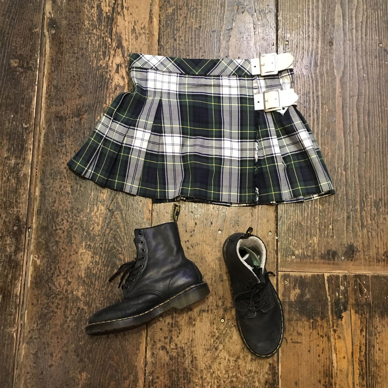 [USED] タータンチェックの巻きmini スカート