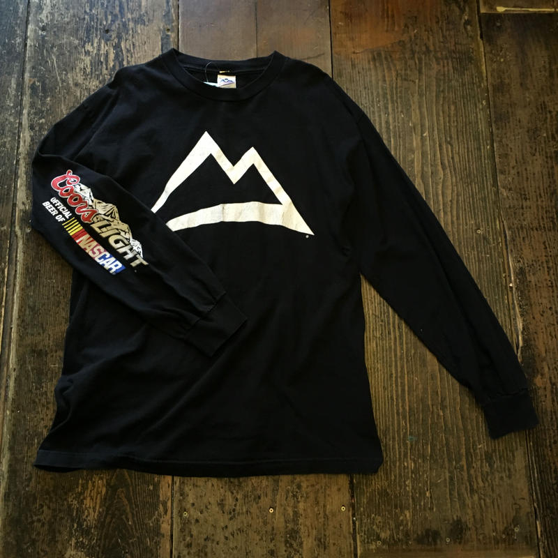 """[USED]  """"Coors LIGHT""""  NASCAR BIG SIZE  プリント ロンTee"""