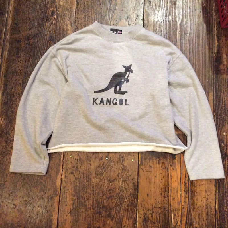 [USED] KANGOL  cut off Sweat