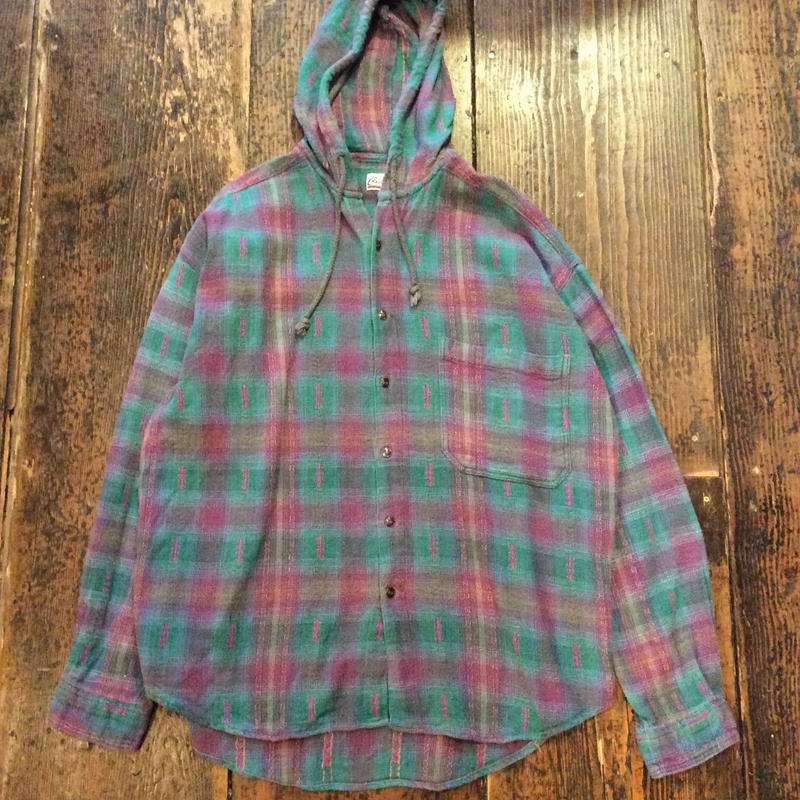 [USED] フード付 ネルシャツ