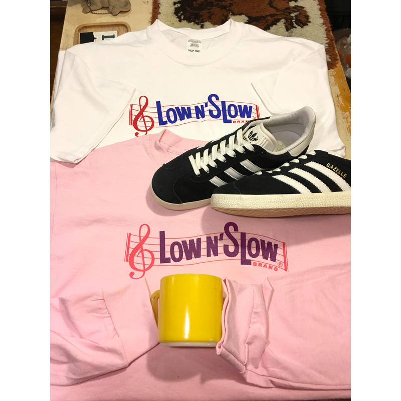 "[CHEAP TIME$]  ""LOW SLOW"" LONG SLEEVE  -PINK"