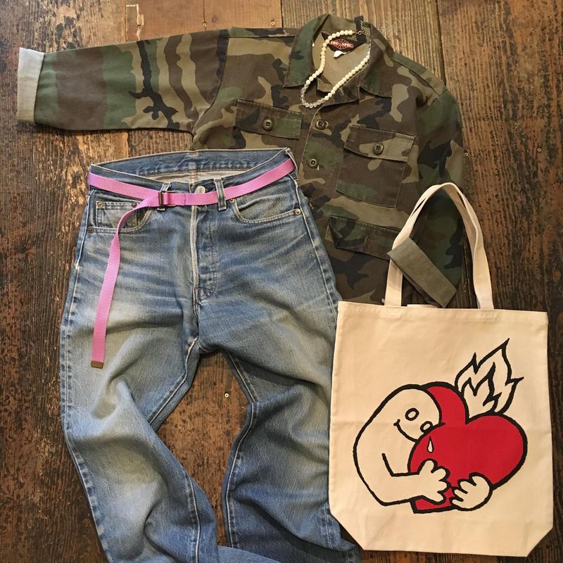 [USED] KIDS カモ柄シャツ
