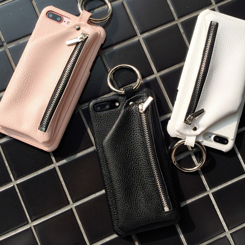 メンズもお薦めポケット付レザー3色iphoneケース