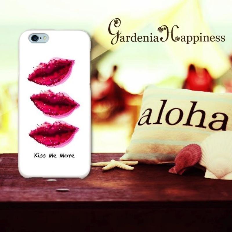 スマホケースAICA-35 くちびるKiss Me More iPhone6Plus/6sPlus、Xperia Z5 Premium(SO-03H)、ARROWS NX(F-02H)
