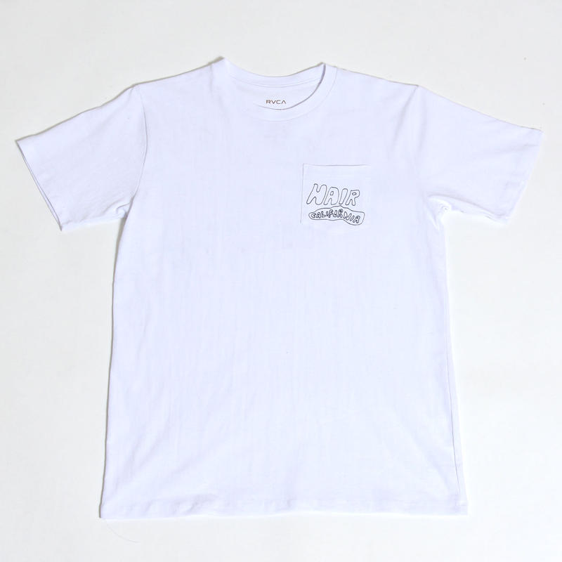 RVCA  HAIR CALIFORNIA S/S T-SHIRTS / WHITE