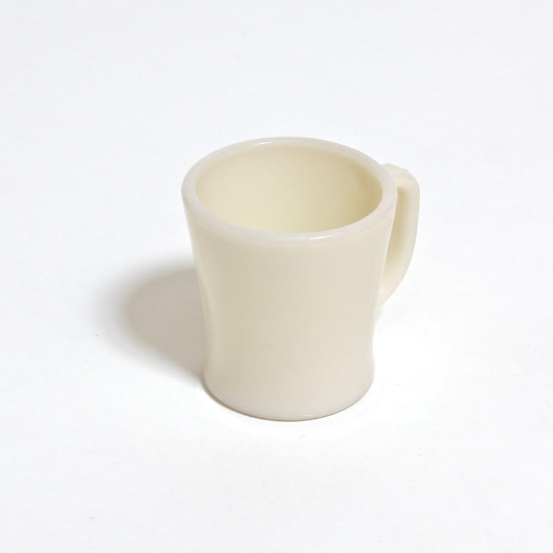 FIRE KING D HANDLE MUG / SHAVING / IVORY
