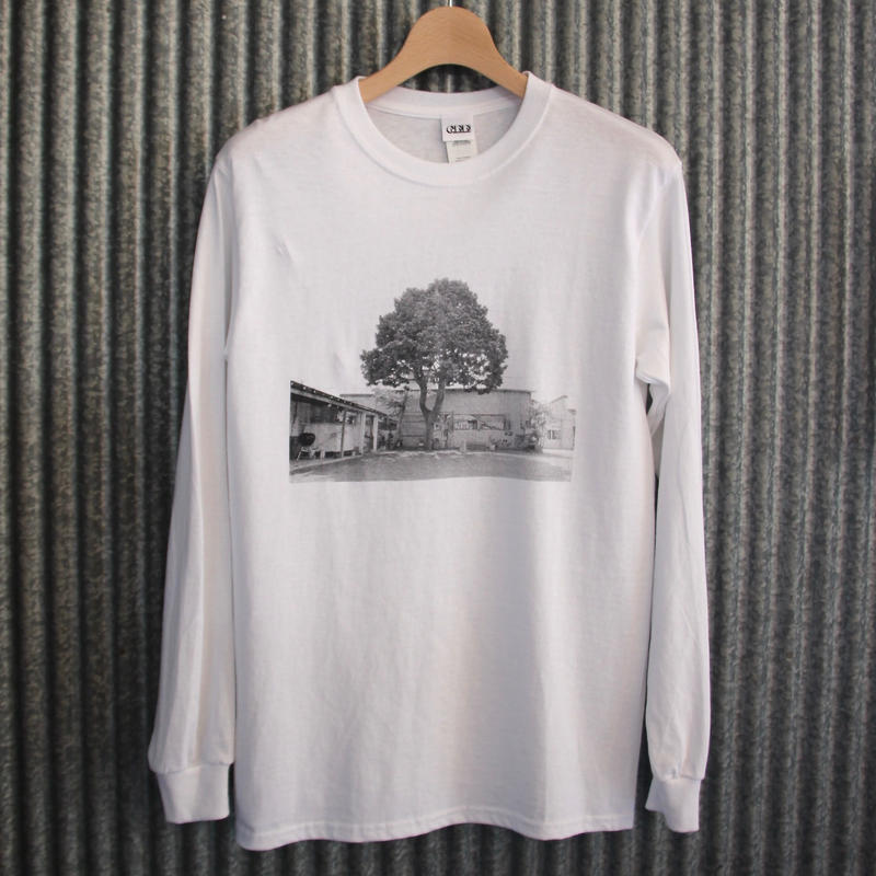GEE ORIGINAL PHOTO L/S T-SHIRTS / WHITE