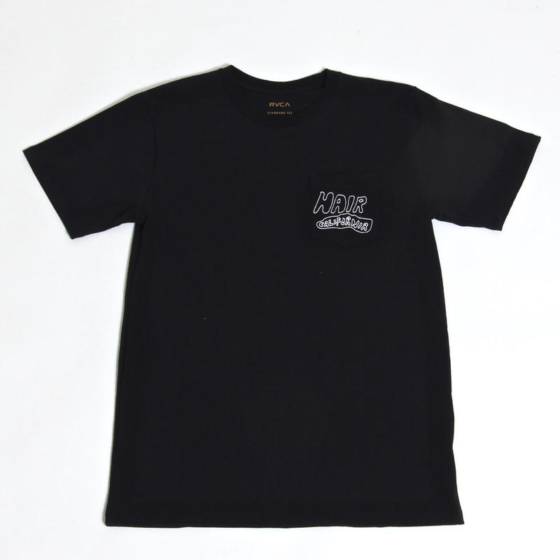 RVCA  HAIR CALIFORNIA S/S T-SHIRTS / BLACK