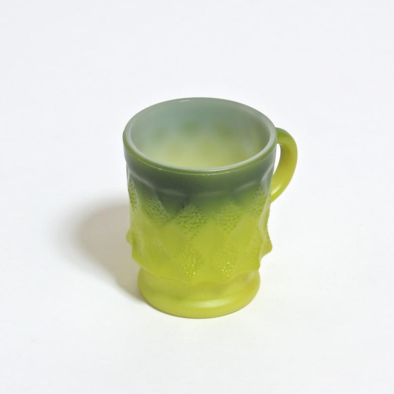 FIRE KING KIMBERLY MUG /  GREEN