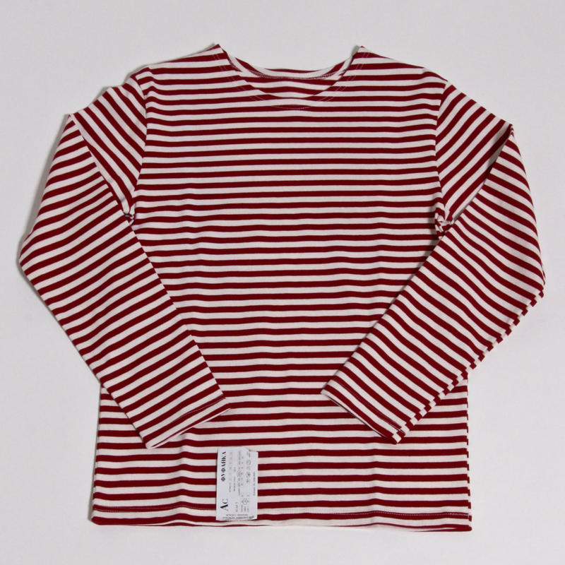 DEAD STOCK RUSSIAN NAVAL BORDER SHIRT / RED