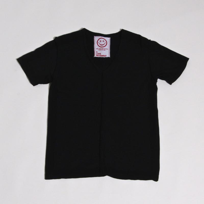 ALM V-NECK T-SHIRTS / BLK / size : XS