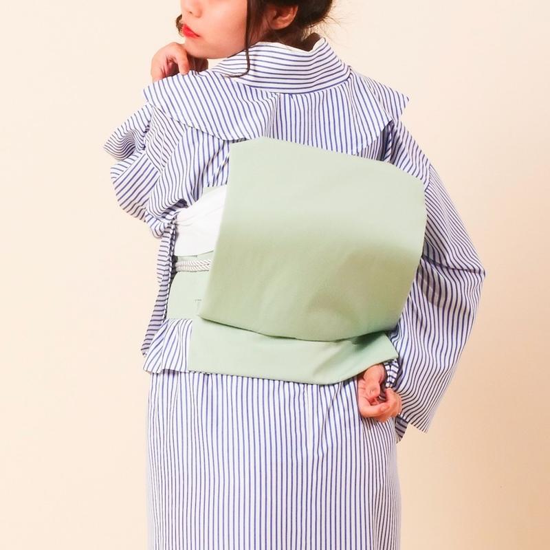 お太鼓作り帯 / グリーン