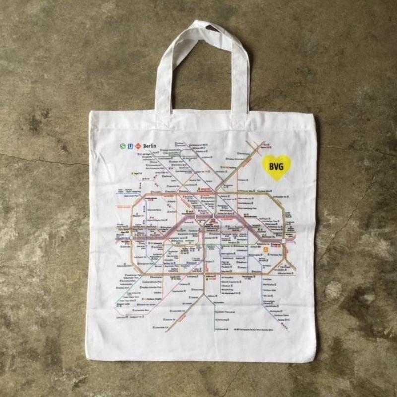 ドイツ ベルリンの交通マップのエコバッグ