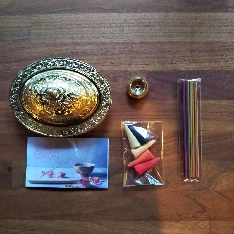 お香セット(楕円形ゴールド)