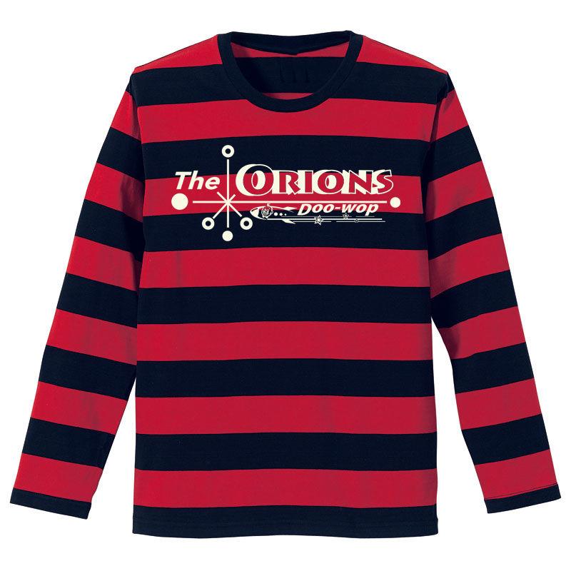 The ORIONS / O-LOGOボーダー Tee 長袖 B(レッド×ブラック)