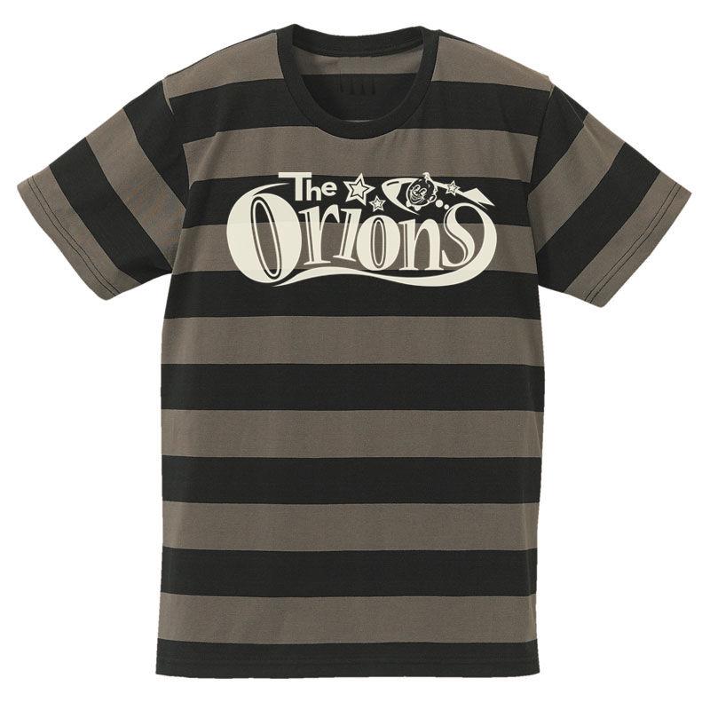 The ORIONS / O-LOGOボーダー Tee A(チャコール×ブラック)