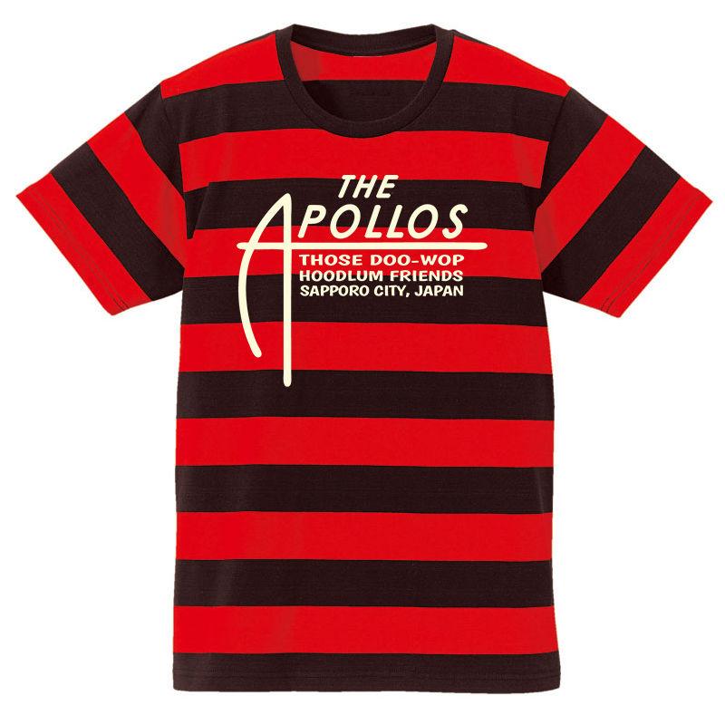 THE APOLLOS / A-LOGO ボーダーTee (レッド×ブラック)