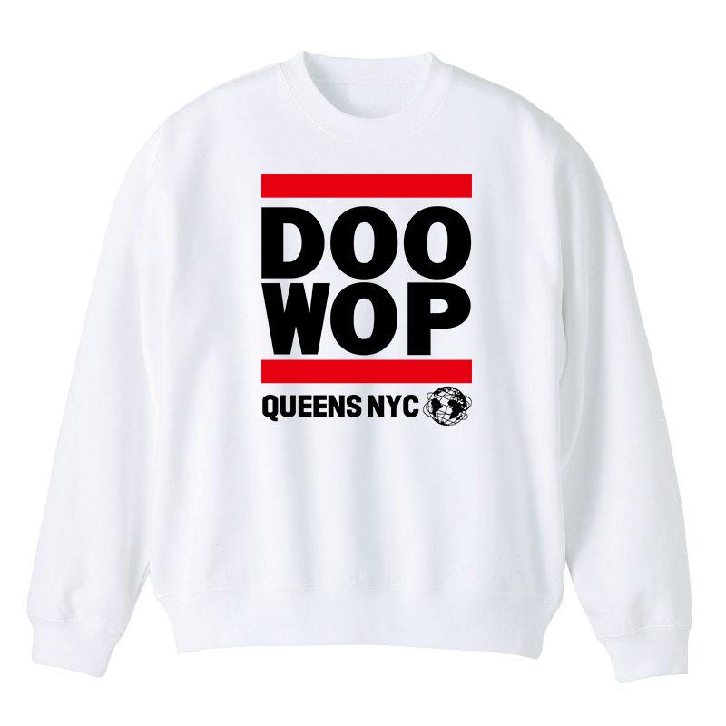 Queens NYC Doo-Wop スウェット (ホワイト)