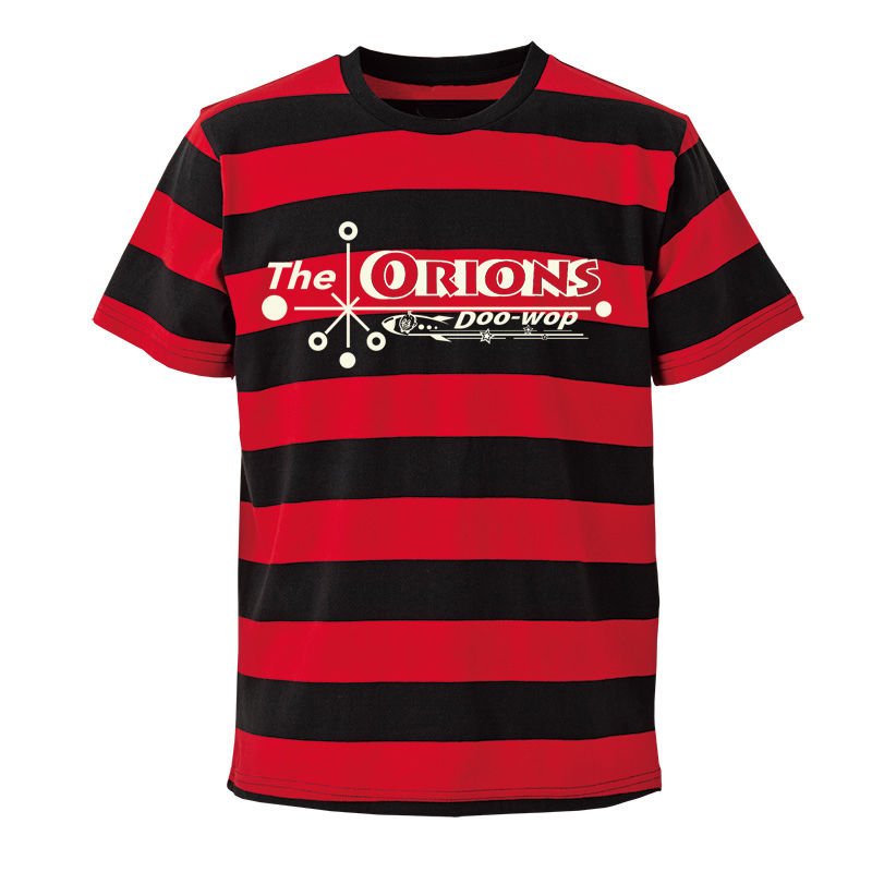 The ORIONS / O-LOGOボーダー Tee  B(レッド×ブラック)