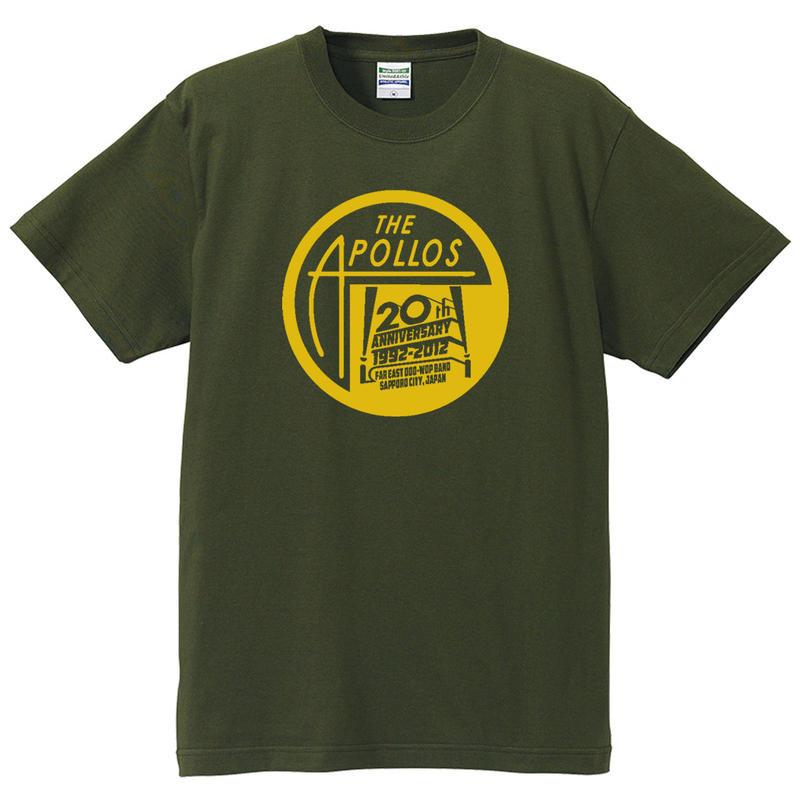 THE APOLLOS / 20th Anniversary Tee(モスグリーン)
