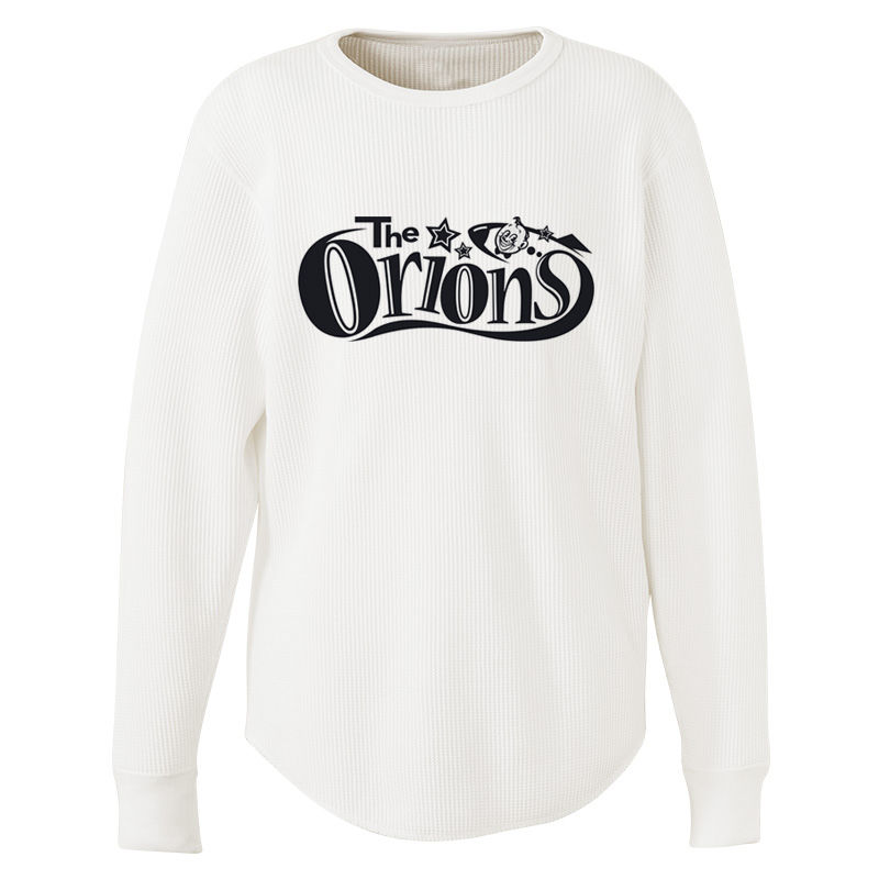 The ORIONS / ワッフル O-LOGO Tee 長袖 A(ホワイト)
