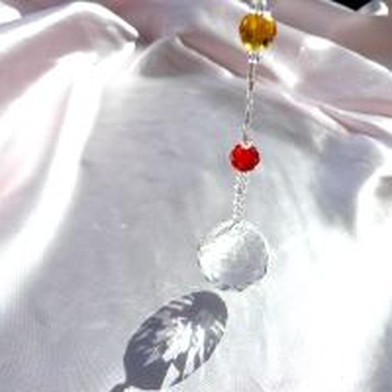 サンキャッチャークリスタルガラス(チャクラ)