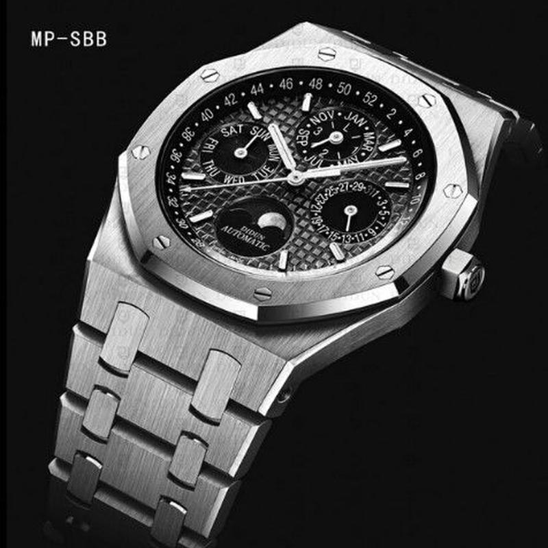 DIDUN 自動巻き 機械式腕時計 ミリタリー ムーンフェイズ 海外輸入