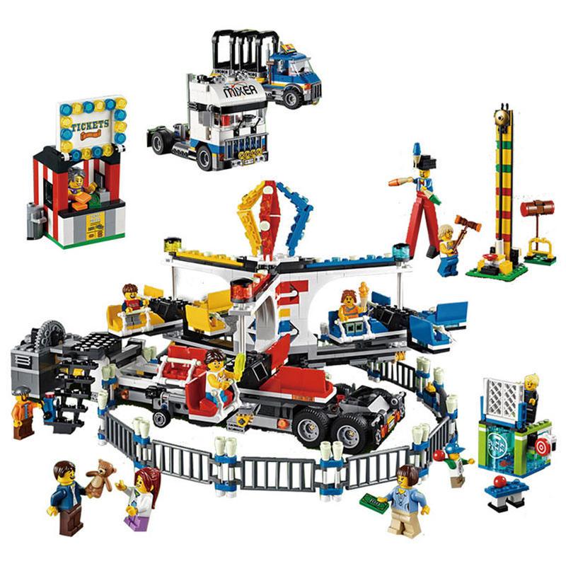 レゴ互換ブロック クリエイター・フェアグラウンド・ミキサー風