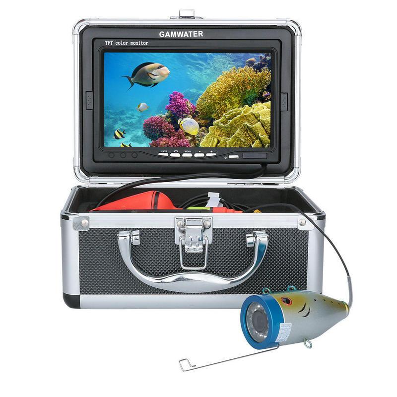 7インチインチモニターカラー 水中 釣り 1000tvl ビデオカメラキット GAMWATER (ケーブル15m)