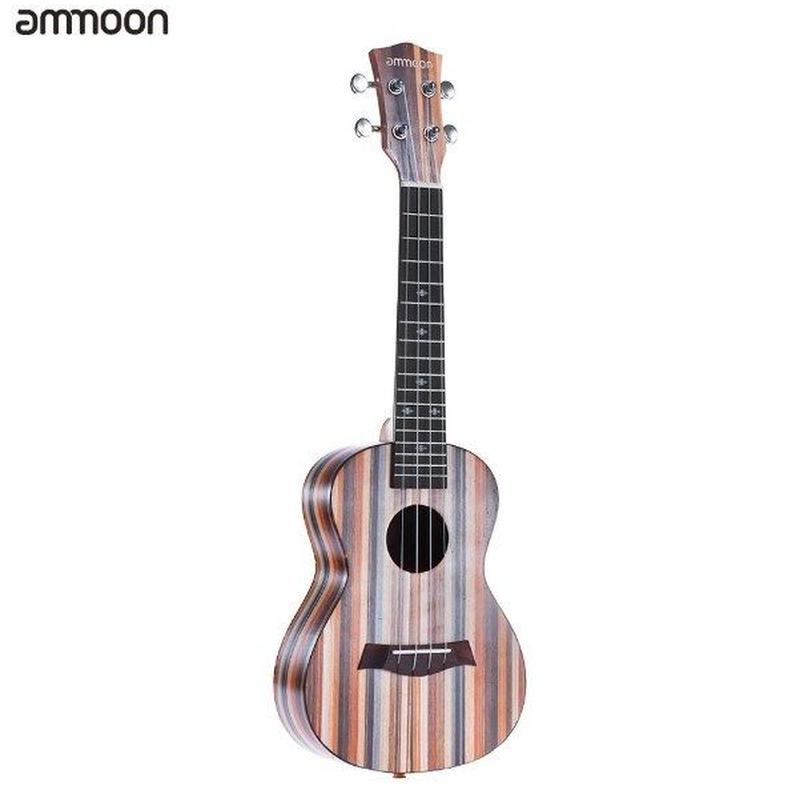 ウクレレ アコースティック ウッド ソプラノ 18フレッツ 4弦オクムメネック ローズウッド 指板弦楽器