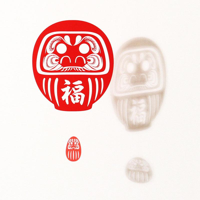 だるま福「RED」#paper ornament