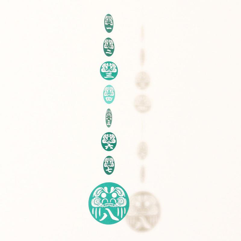 だるま七転八起「GREEN」#paper ornament