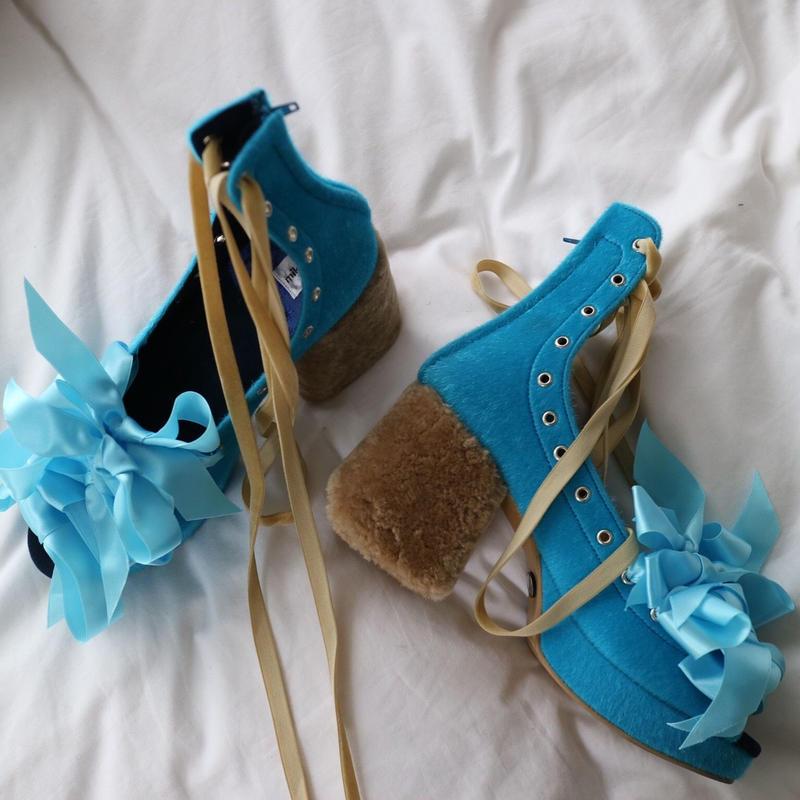 mikiosakabe shoes-blue