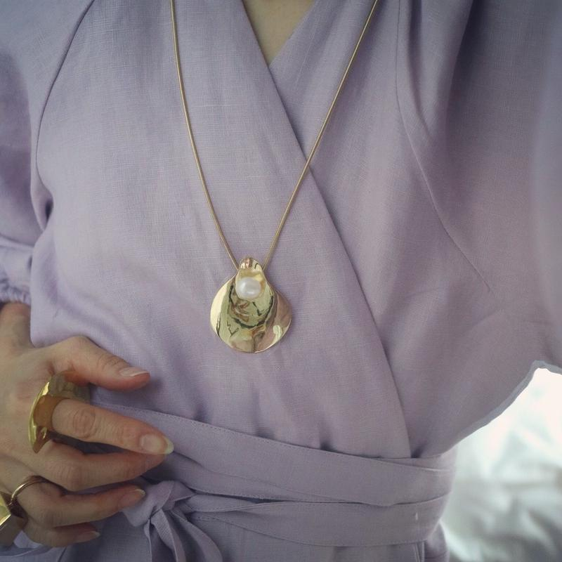 Perle Long  Necklace  【gold】