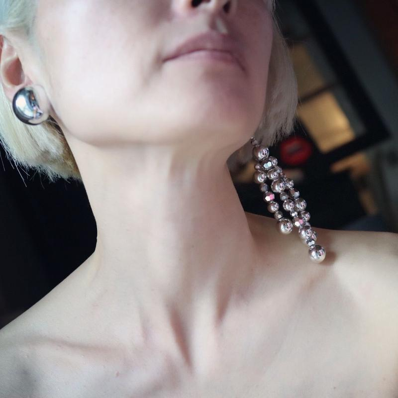 """""""FLORIAN"""" silver earring"""