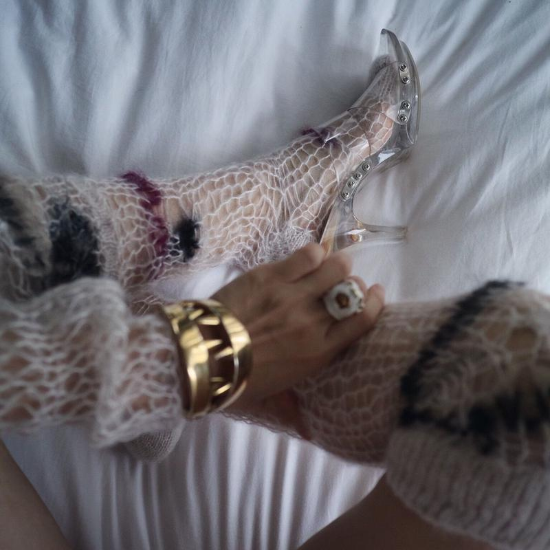 mix  yarn  long socks