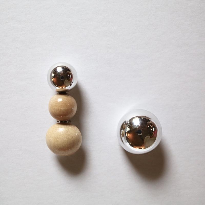 """""""FLORIAN"""" wood /silver earring"""