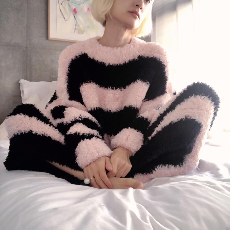 Knit Dress Border{SEIKO TAKI}