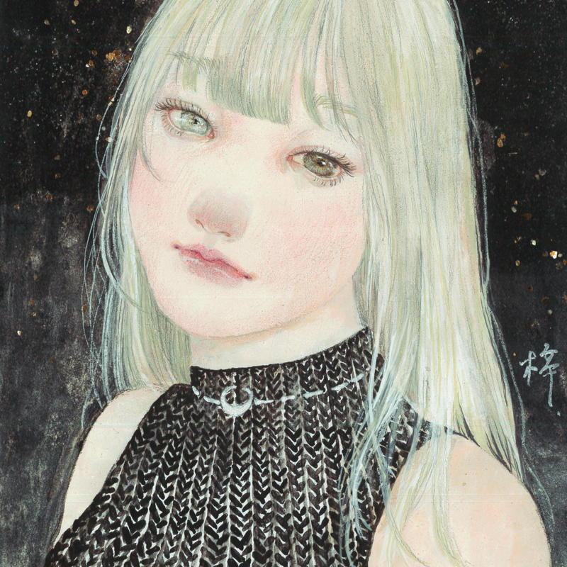 織部梓 日本画原画 「MOON」
