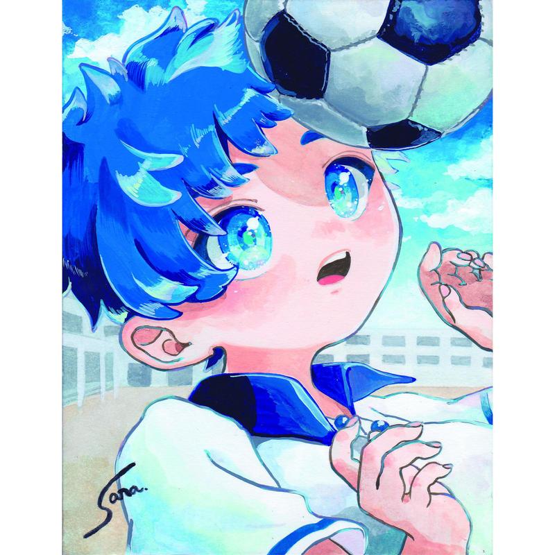 横田紗礼ポストカード10枚セットです「区立アオバ小学校4年2組 男の子」。