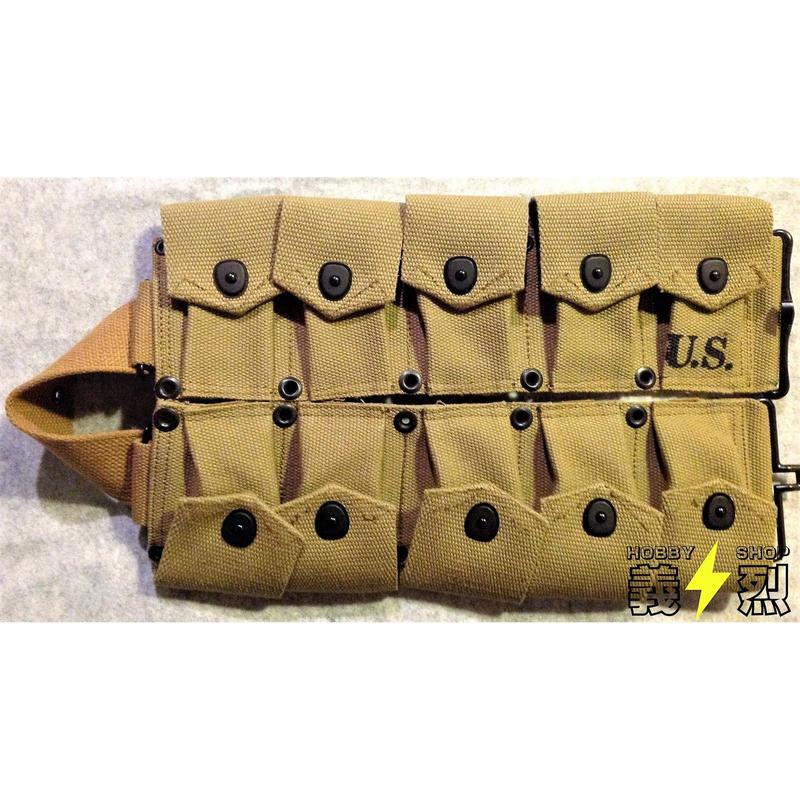 【複製品】WW2米軍M1923カートリッジ・ベルト(カーキ色)