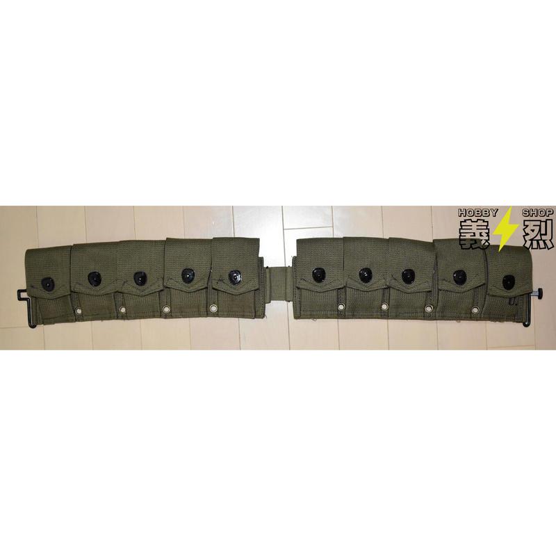 【複製品】WW2米軍M1923カートリッジ・ベルト(グリーン色)