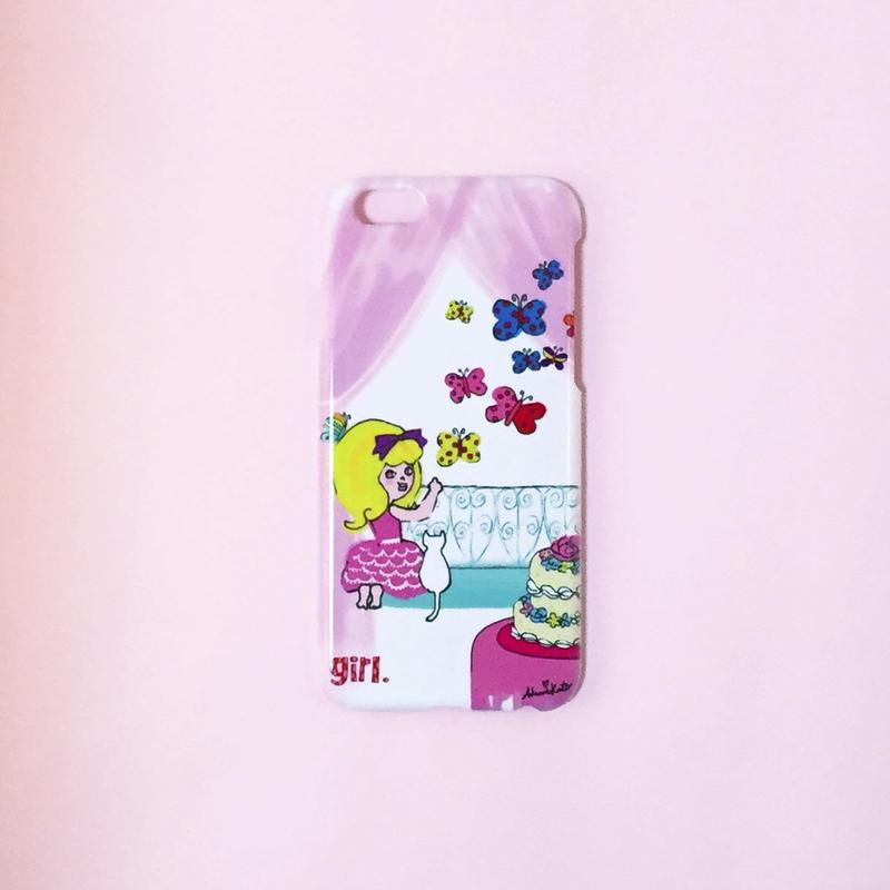 iPhone6ケース ピンクカーテン