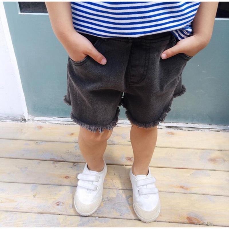 KIDS BLACK DENIM PANTS