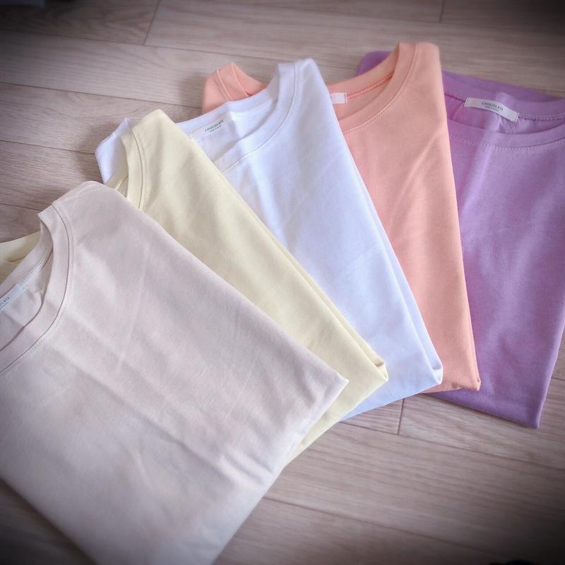 無地シンプル半袖Tシャツ