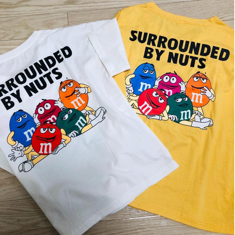 レディース m&m's バックプリントTシャツ