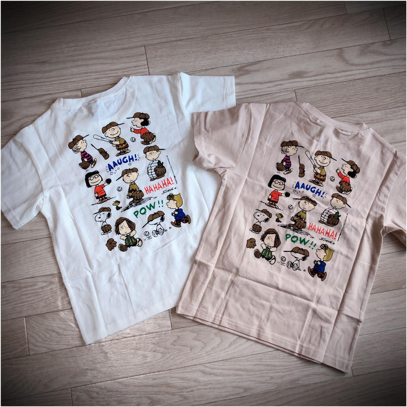 KIDS SNOOPY  BACK PRINT Tシャツ