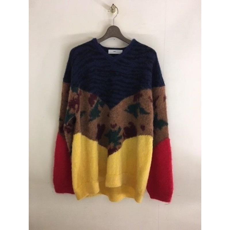 TOGA / ANIMAL KNIT PULLOVER/Yellow