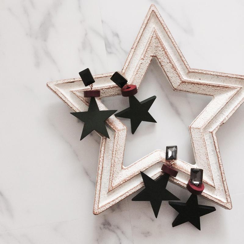 【wood star】ピアス&イヤリング