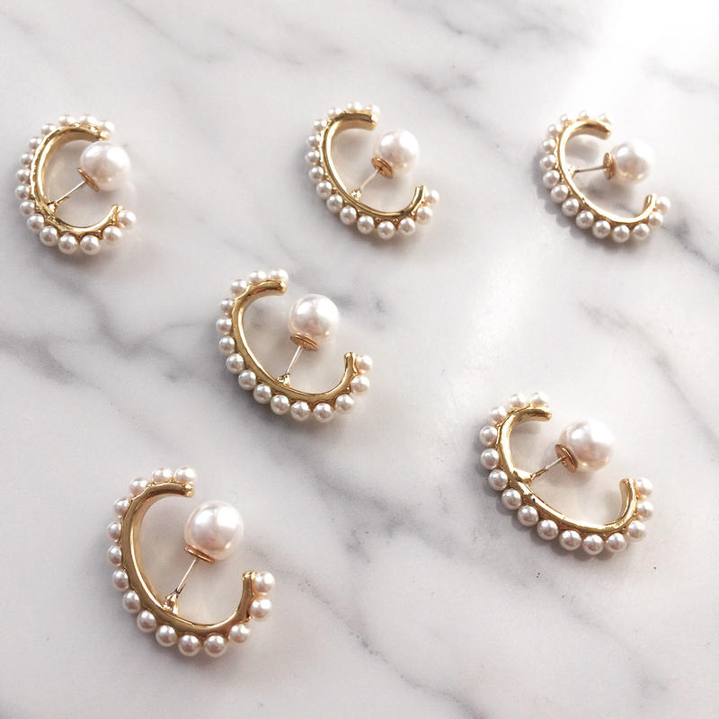 【Cartilage pearl】バックキャッチピアス